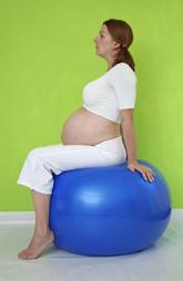 pregnant woman on ball